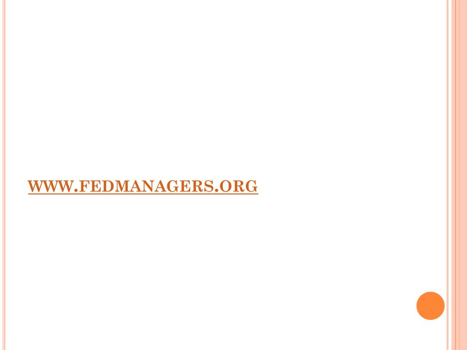 WWW. FEDMANAGERS. ORG