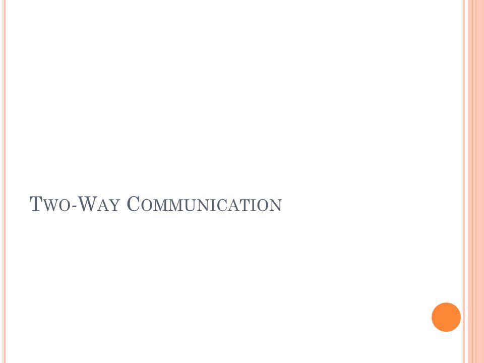 T WO -W AY C OMMUNICATION