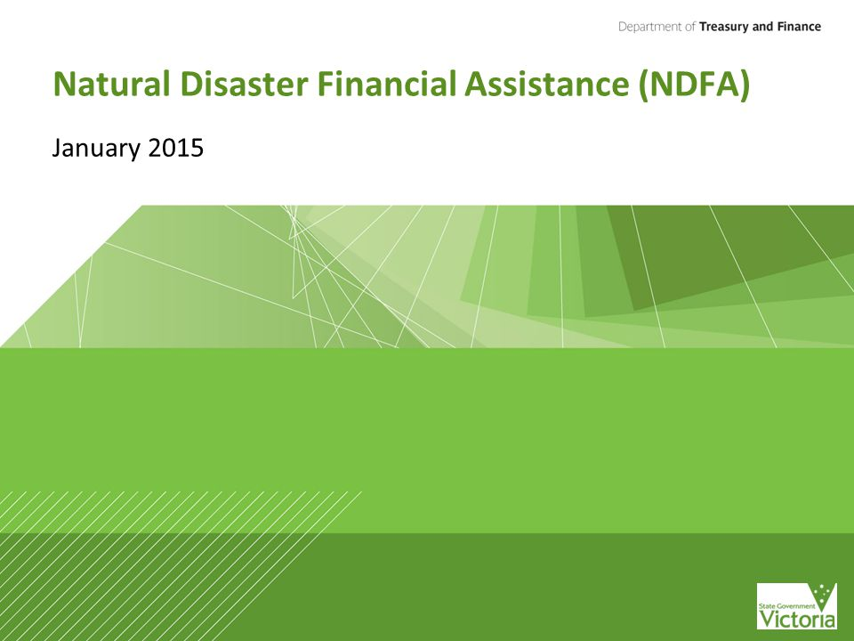 Natural Disaster Financial Assistance (NDFA) January 2015