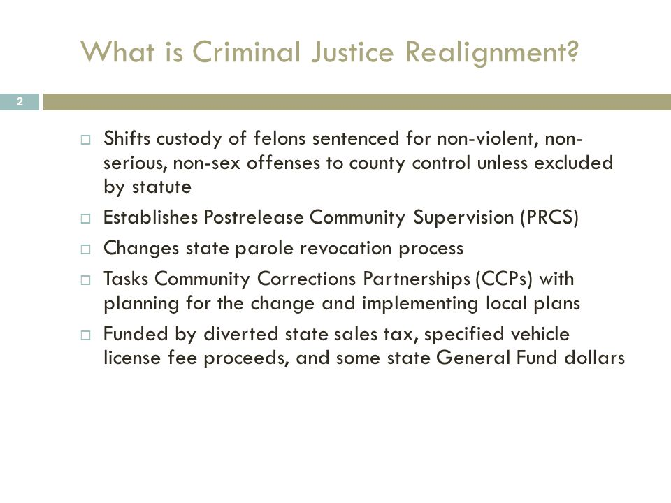 Recent History 3  Costs of State Prison System Growing  Funds for Correctional Activities Diminishing  Several Class Action Suits Filed Against California  Recidivism Rates at 70%  Three-Judge Panel Order to Reduce Prison Population