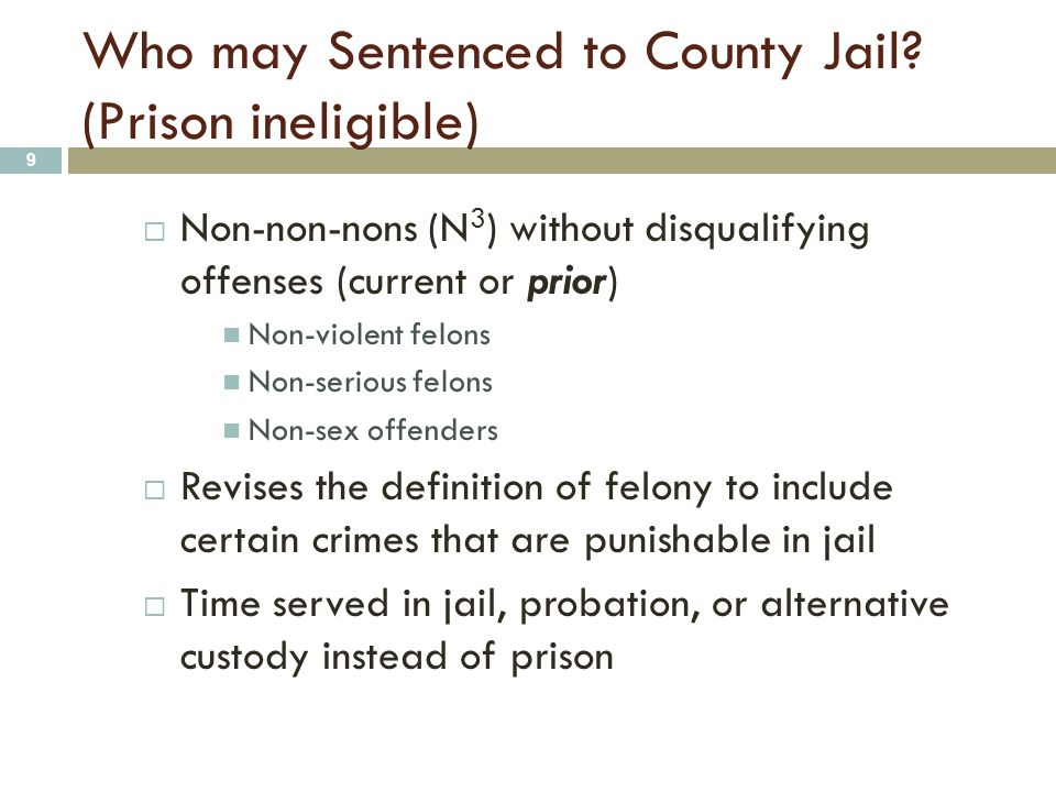 Postrelease Community Supervision (PRCS) 20 Who will be released from state prison to local supervision.