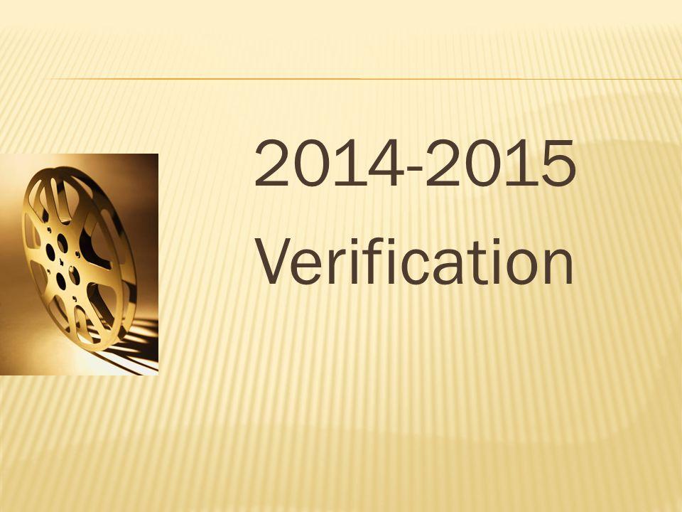 2014-2015 Verification