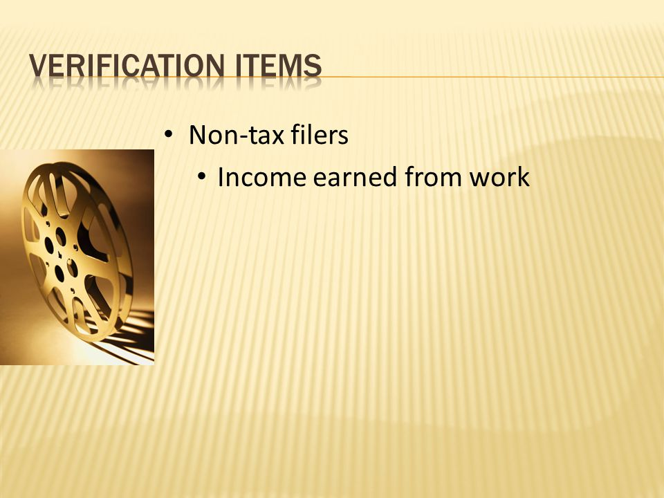 Non-tax filers Income earned from work