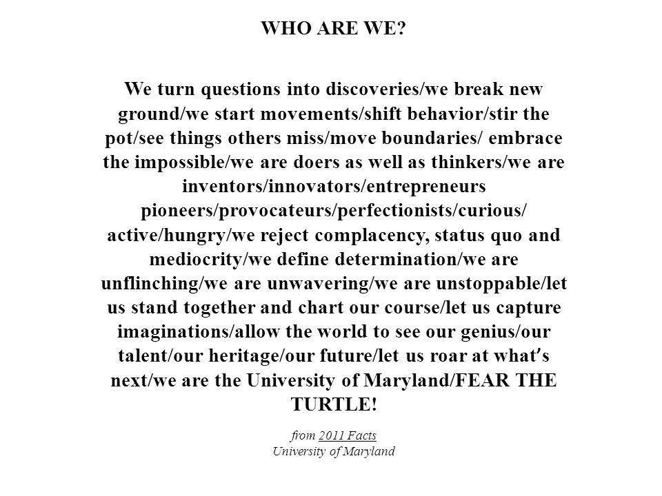 WHO ARE WE.