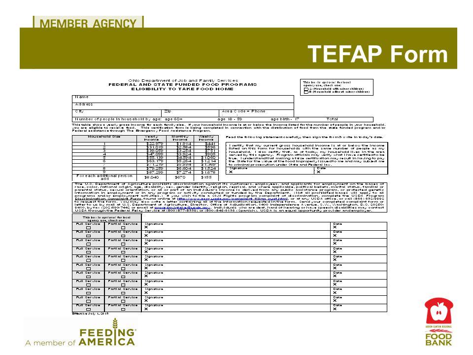 TEFAP Form