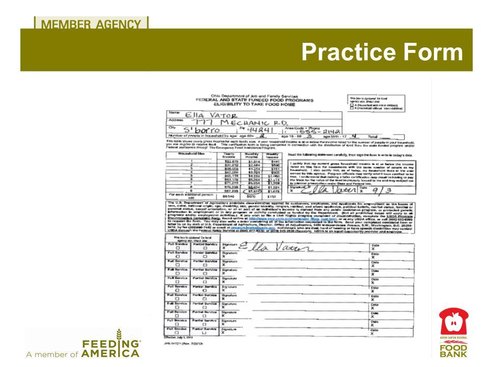 Practice Form