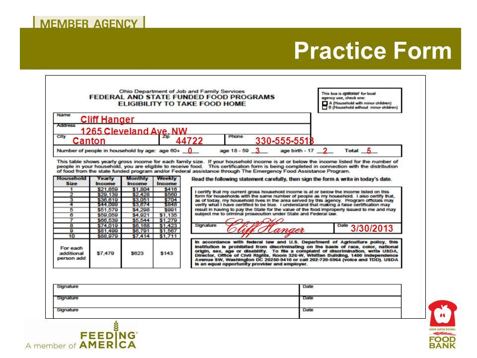 Practice Form Cliff Hanger 1265 Cleveland Ave.