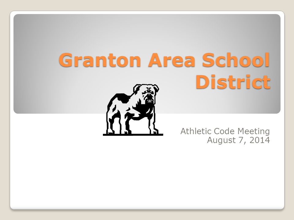 Granton Area School District Athletic Code Meeting August 7, 2014