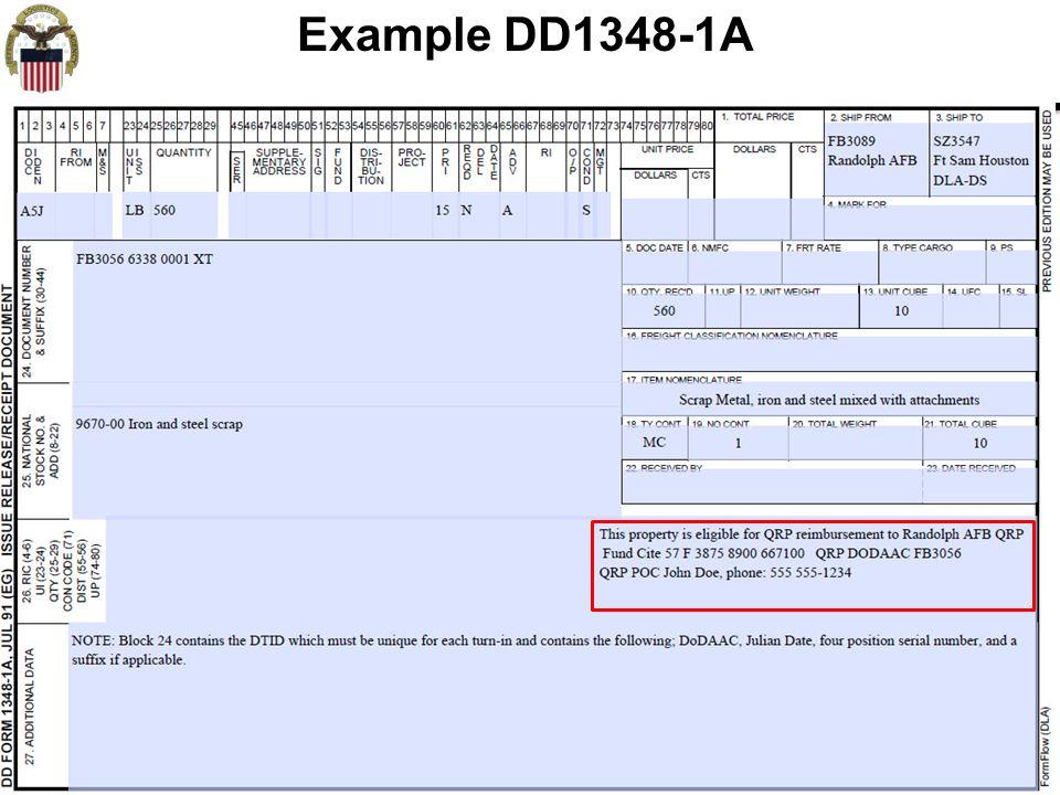 9 Example DD1348-1A