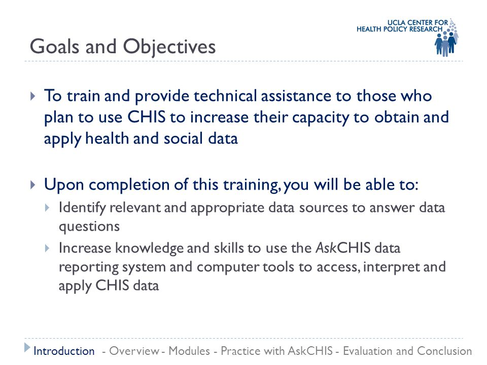 Practice with AskCHIS Example: Migration and Health Possible Topics: All children have health coverage.