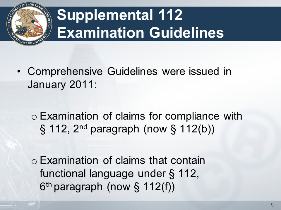 Module 3: BRI and Definiteness of § 112(f) Limitations Provide reasons to support an indefiniteness rejection o Make the written record clear as to the specific deficiencies, based on reasons A, B, C, or D (prior slides) o Will provide the applicant an opportunity to directly address the issues Provide an explanation on the record regarding claim construction when needed to assist in clarifying position o Identify on the record the corresponding structure for a § 112(f) limitation 30
