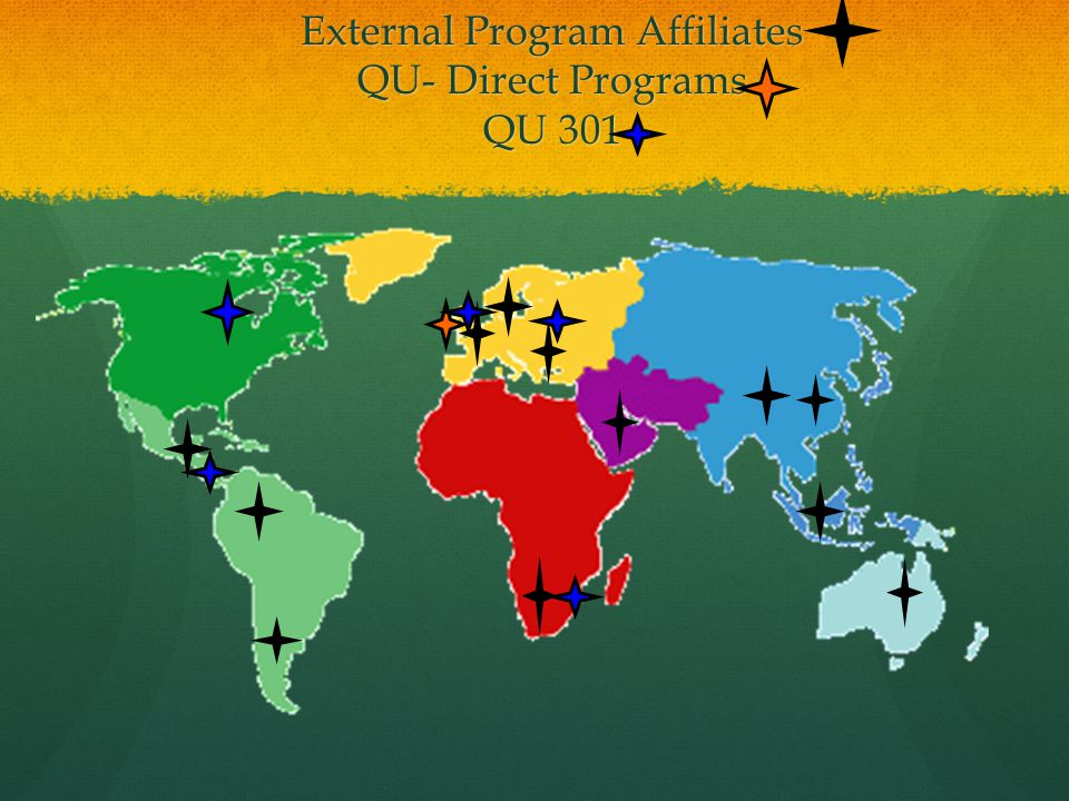 External Program Affiliates QU- Direct Programs QU 301