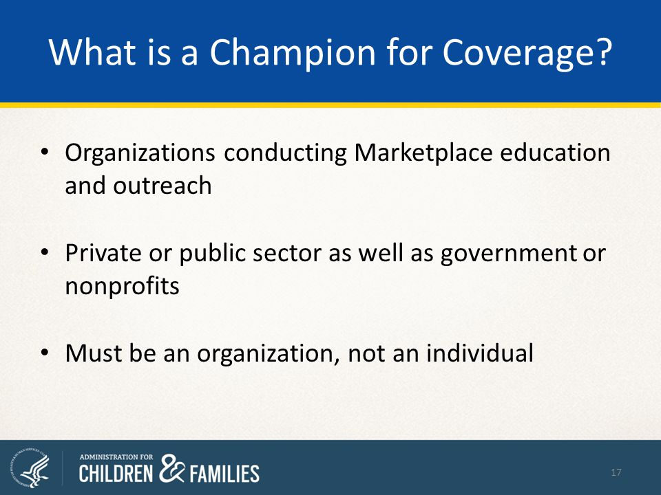What is a Champion for Coverage.