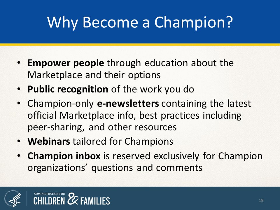 Why Become a Champion.