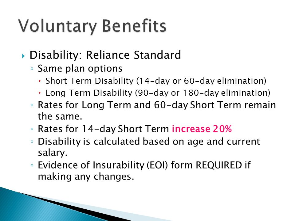  Flexible Spending: WageWorks ◦ Adjudication of claims is industry standard and will continue.