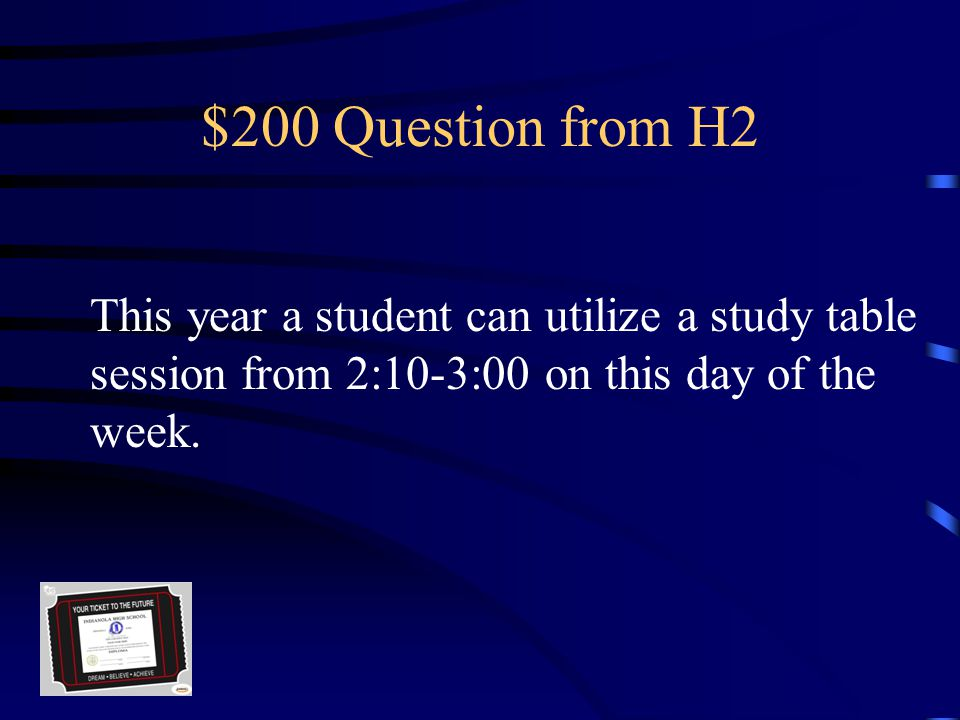 $100 Answer from H2 180 (175 for seniors)
