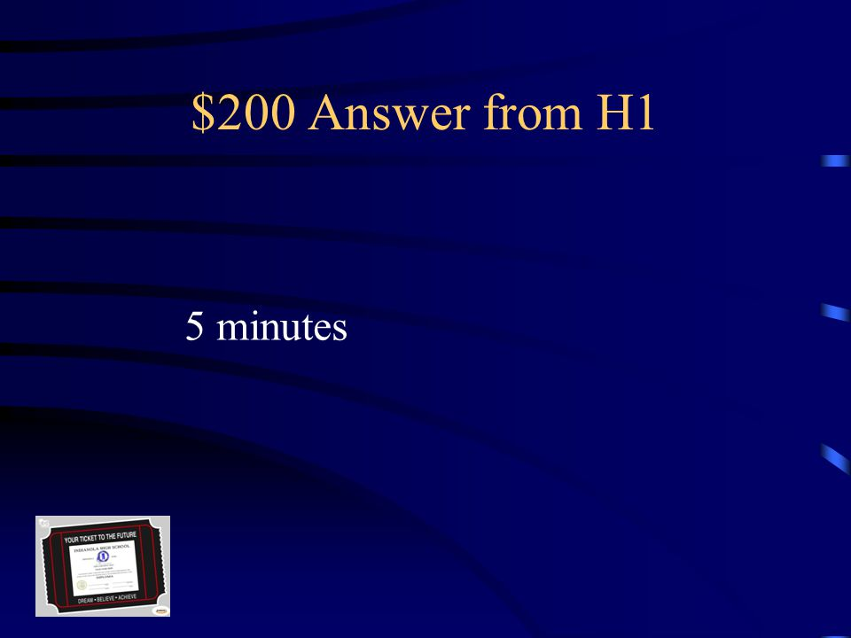 $200 Question from H1 Passing time is this long at IHS