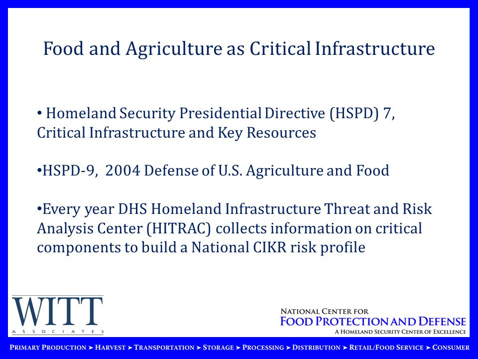 ©2010 National Center for Food Protection and Defense.