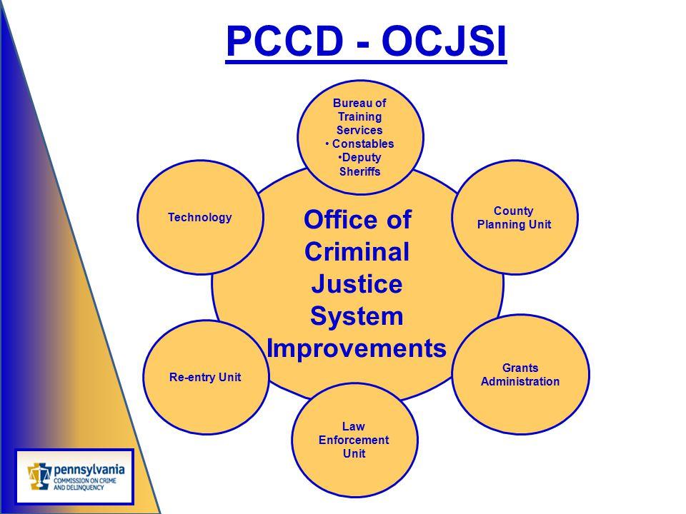 Office of Criminal Justice System Improvements Bureau of Training Services Constables Deputy Sheriffs Law Enforcement Unit County Planning Unit Grants