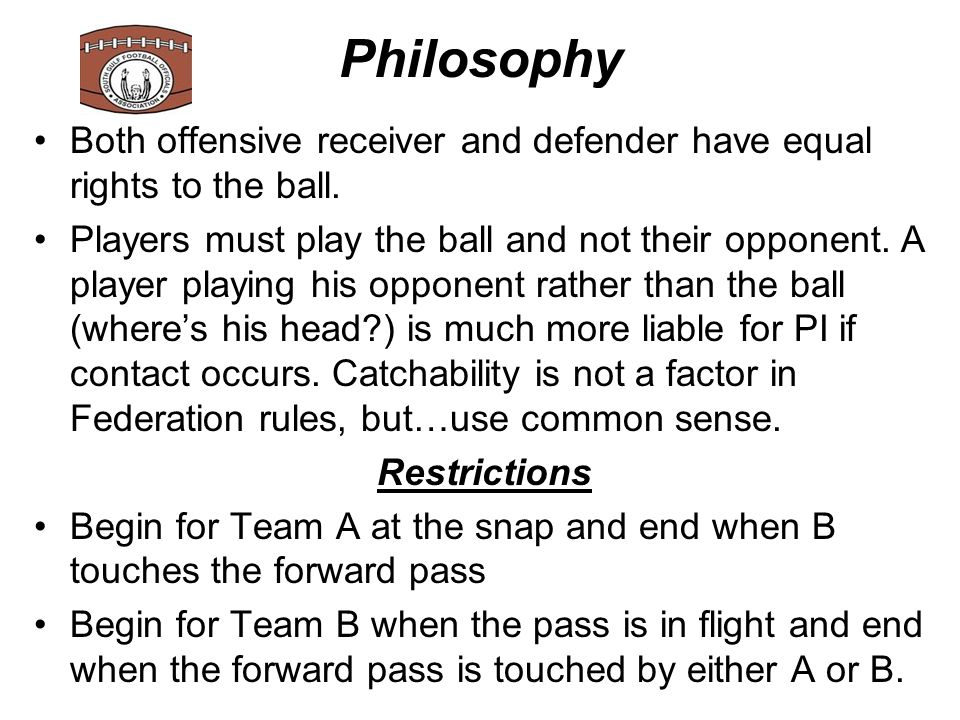 Pass Interference There are two indicators that make a player suspect for PI:  Bite - when a player bites on a move and then has to try to recover, such as when a receiver does a hook n go - if he bites on the hook, he will frequently try to recover by grabbing the receiver as he goes by, etc., which can turn into PI.