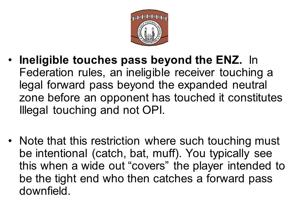 Receiver physically picks a defender. This must be an intentional act by the receiver.