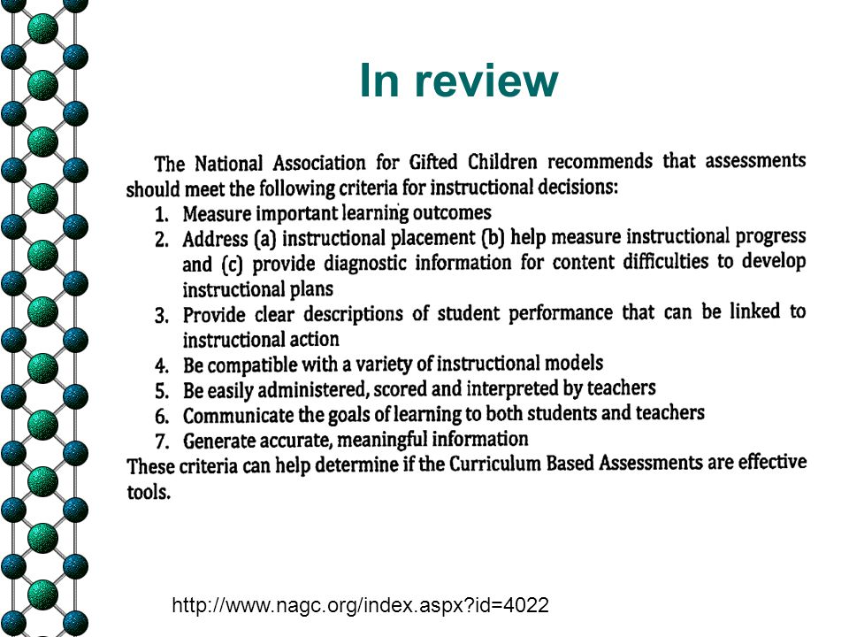 In review http://www.nagc.org/index.aspx?id=4022