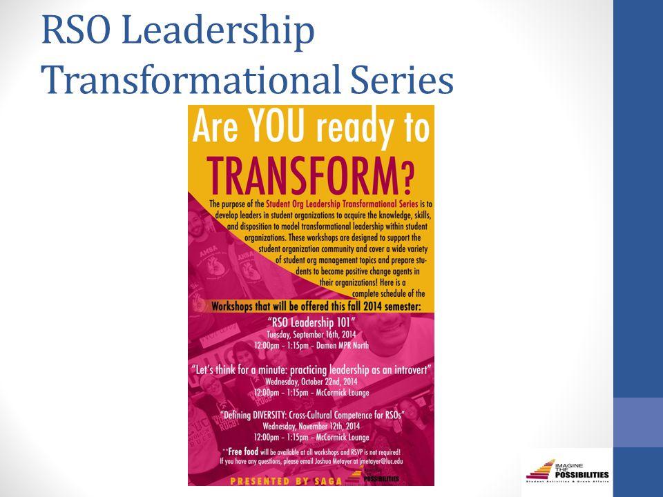 RSO Leadership Transformational Series