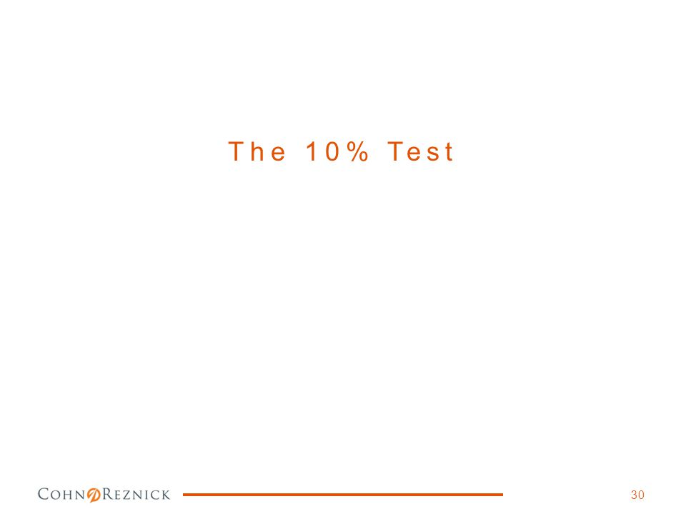 The 10% Test 30