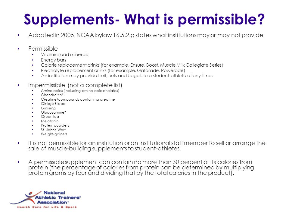Supplements- What is permissible.