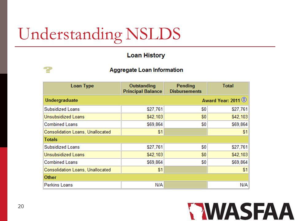 20 Understanding NSLDS