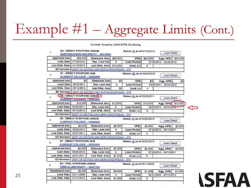 25 Example #1 – Aggregate Limits (Cont.)
