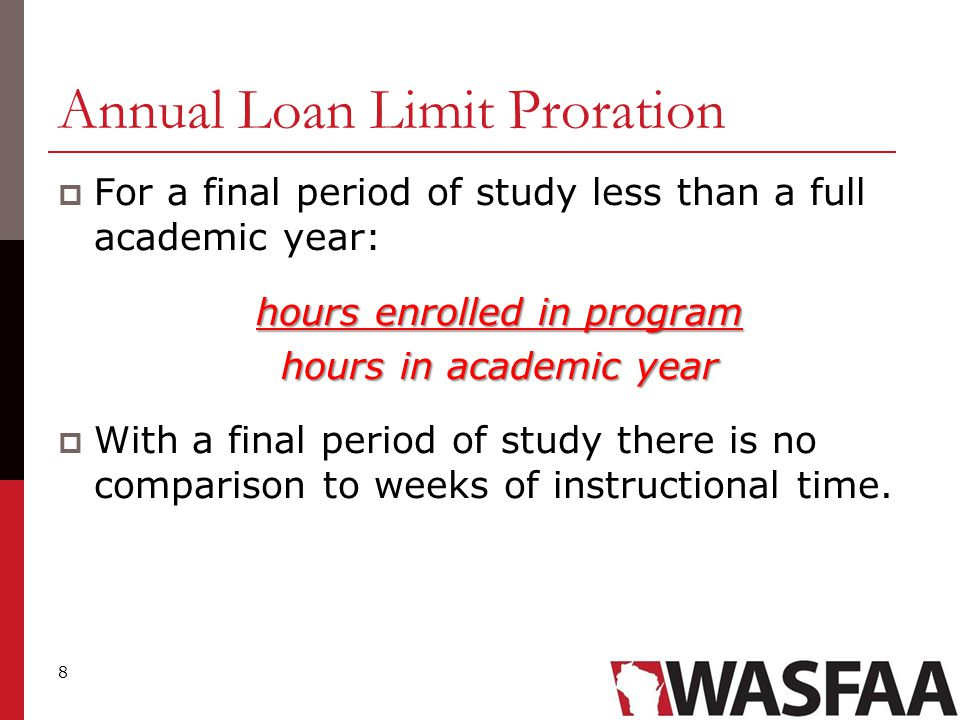 9 Transfer or change of program - or changes programs within the same school -  Special consideration must be given to the annual loan limits when a student transfers between schools - or changes programs within the same school - where the academic years between the two schools or programs overlap.