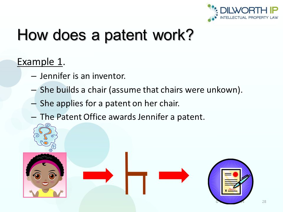 How does a patent work.Example 1. – Jennifer is an inventor.