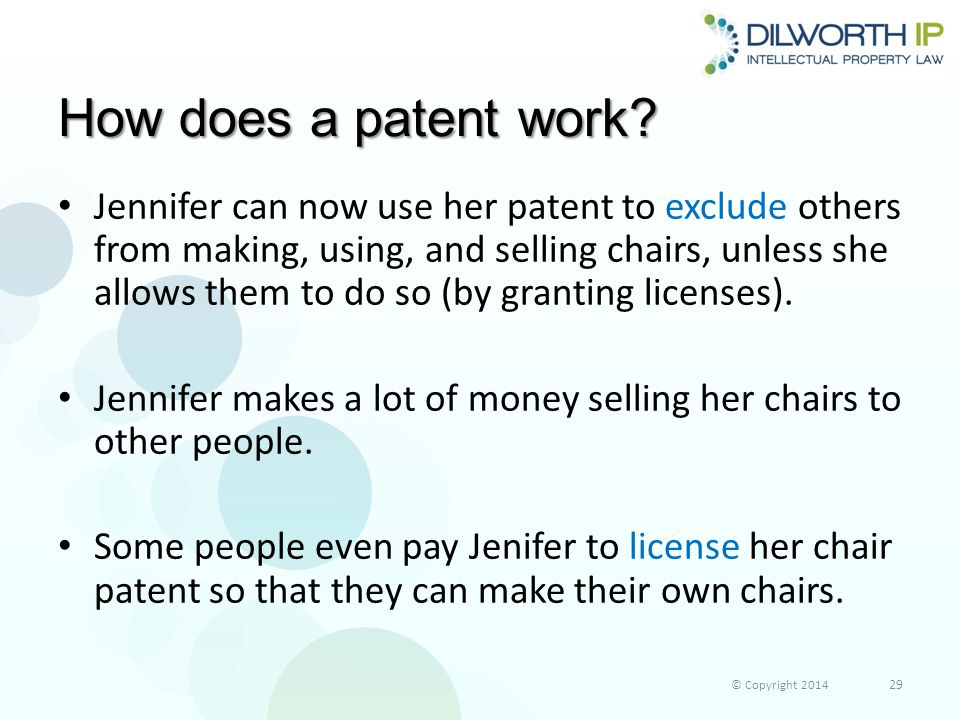 How does a patent work.