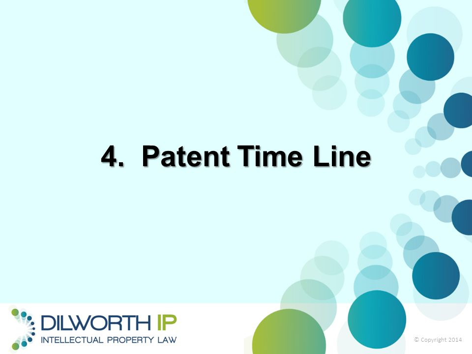 4. Patent Time Line © Copyright 2014