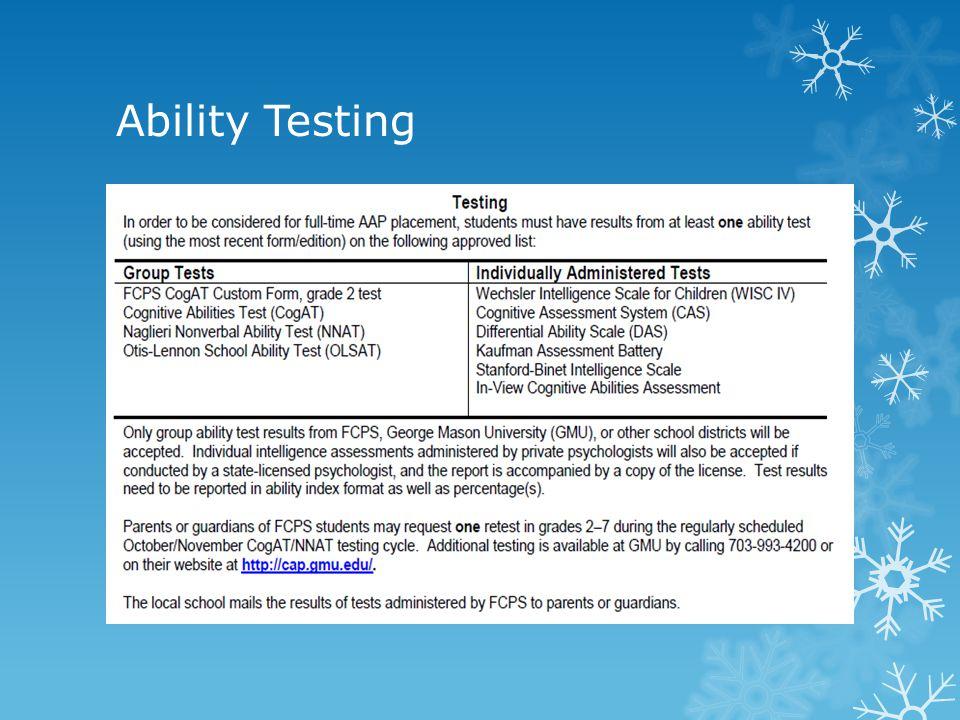 Ability Testing