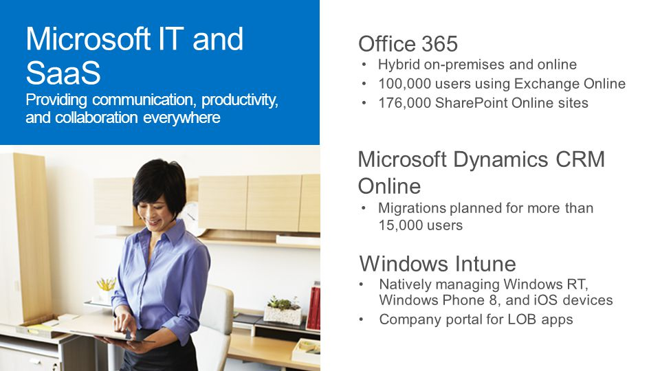 Microsoft IT and SaaS Providing communication, productivity, and collaboration everywhere