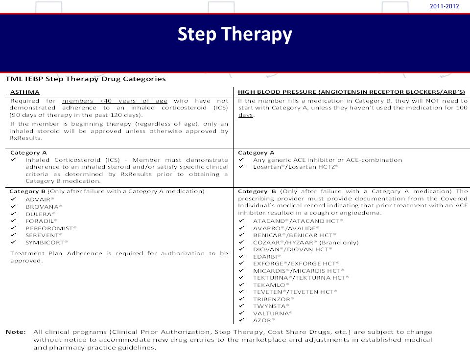 Step Therapy 2011-2012