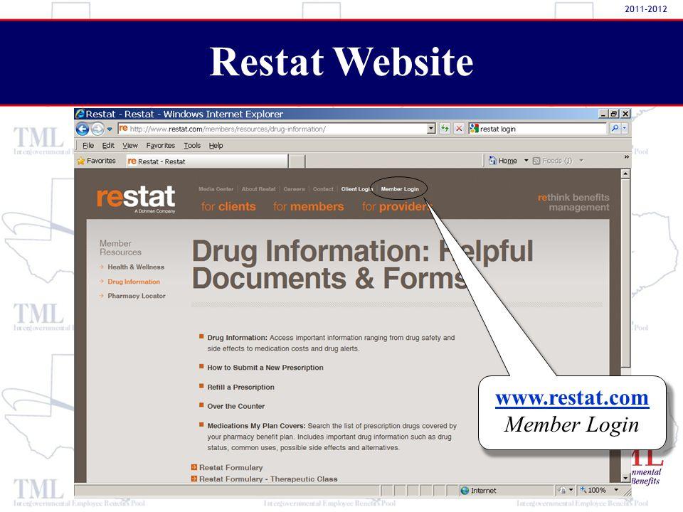www.restat.com Member Login Restat Website 2011-2012