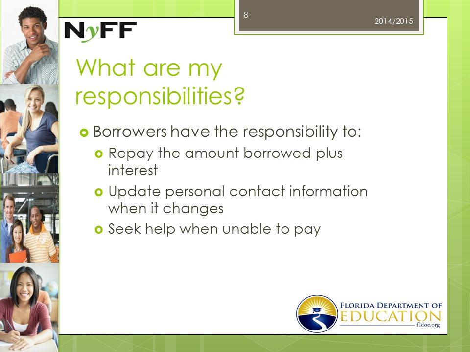 Resolving Disputes  Self-Resolution Checklist  www.StudentAid.ed.gov www.StudentAid.ed.gov  Common Issues and How to Resolve  www.StudentAid.ed.gov/repay- loans/disputes www.StudentAid.ed.gov/repay- loans/disputes  Ombudsman Office  1-877-557-2575  www.StudentAid.ed.gov/repay- loans/disputes/prepare www.StudentAid.ed.gov/repay- loans/disputes/prepare 2014/2015 29