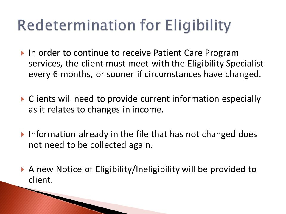  The primary tasks by eligibility staff after a determination of eligibility include referrals.