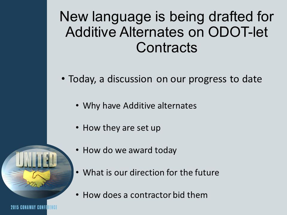 Why Additive Alternates.