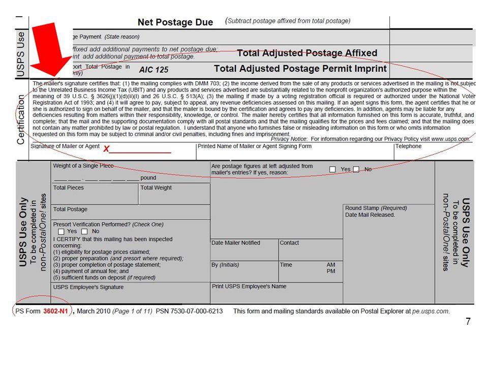 Nonprofit Standard Mail 7