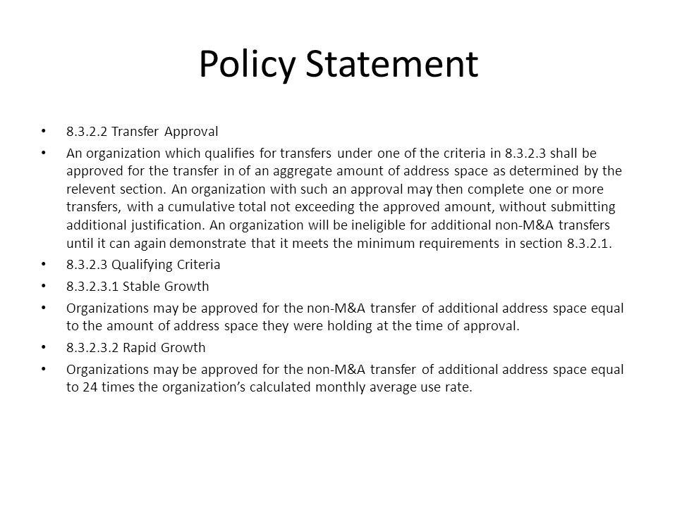 Policy Statement 8.3.2.3.2.1 Calculation of Monthly Average Use Rate An organization may choose a look-back window of any number of months between 3 and 12, inclusive, from the date of the current request.
