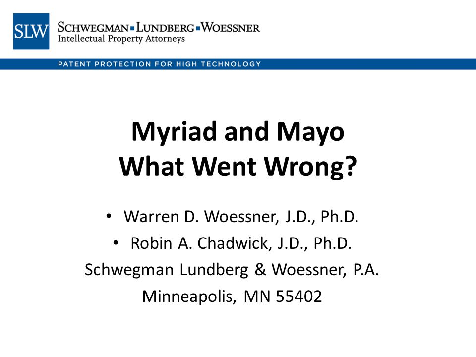 In summary: Myriad and Mayo (much less dicta in Chakrabarty discussing Funk Bros.) do not provide sufficient rationale to depart from about a century of practice and analysis that culminated in Bergy.