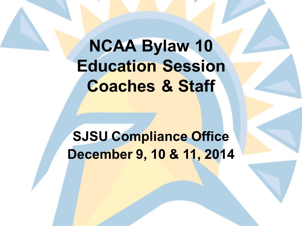 Bylaws 10.02 & 10.3 Sports Wagering