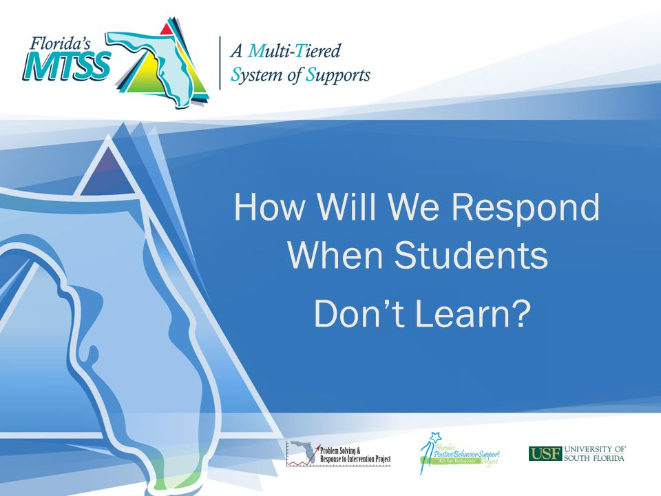 How Will We Respond When Students Don't Learn