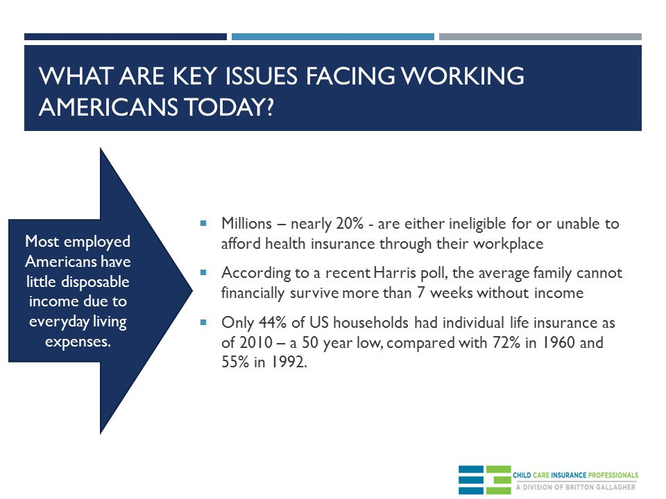 WHAT ARE KEY ISSUES FACING WORKING AMERICANS TODAY.