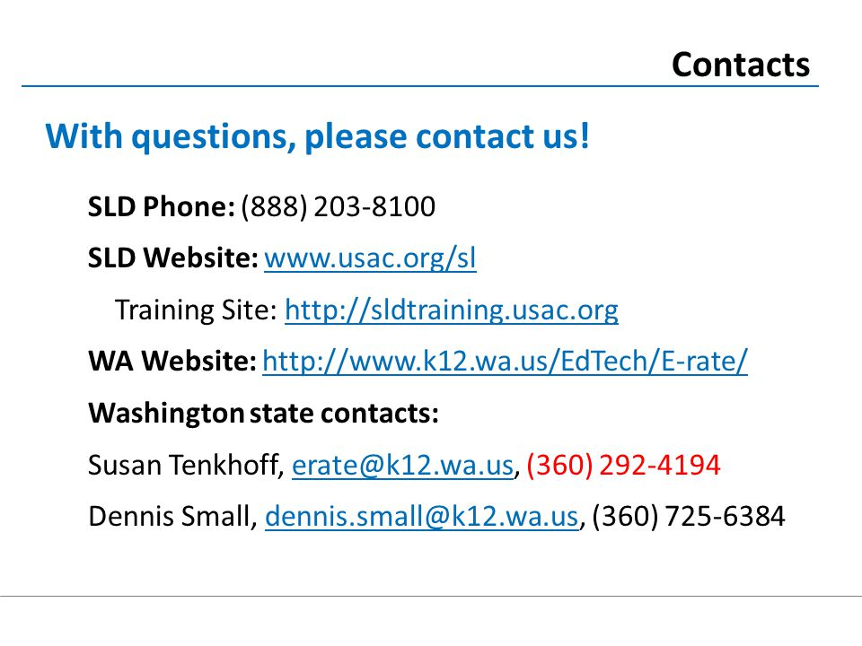 Contacts With questions, please contact us.