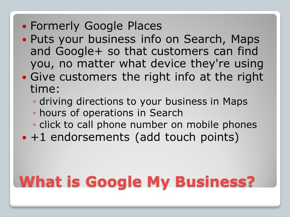 What is Google My Business.
